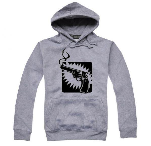 Sweatshirt à capuche visuel Smoking Revolver