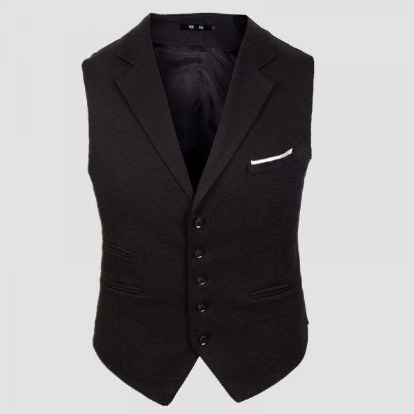 Gilet de costume homme avec double poche côté 5 boutons
