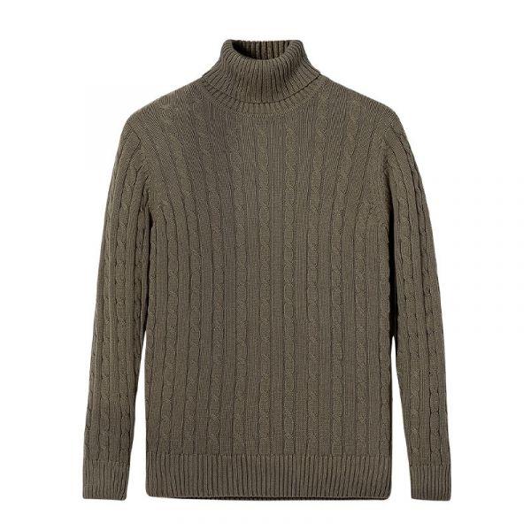 Pull en laine à col roulé bien chaud pour homme