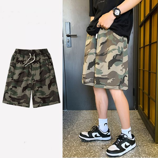Short baggy homme camouflage