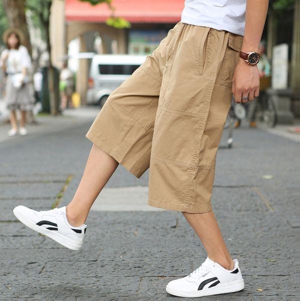 Short en coton ample large pour homme
