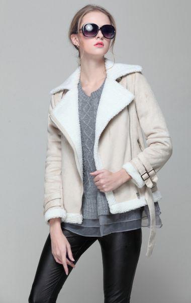 veste fausse peau de mouton femme