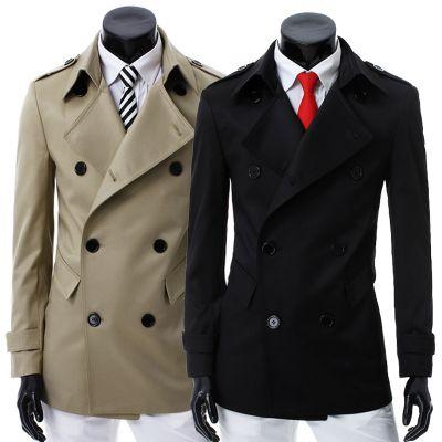 Manteau classique pour homme avec double boutonnage