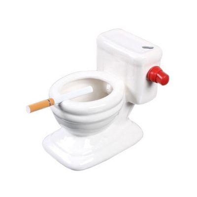 Cendrier originale - toilette avec jet d'eau pour eteindre braise