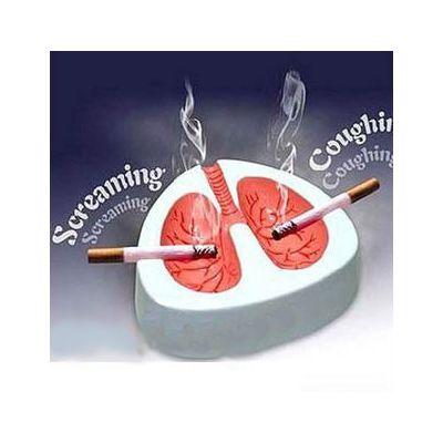 Cendrier tousseur originale - forme de poumons