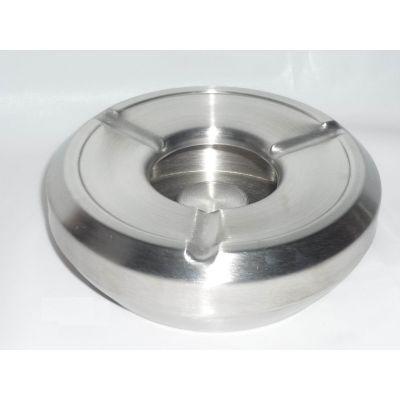 Cendrier en acier inox en 2 pieces pour de cendres et megots