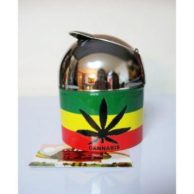 Cendrier refermable avec design rasta reggae