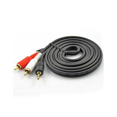 Cable avec embout RCA audio et petit jack 3.5mm - 1m