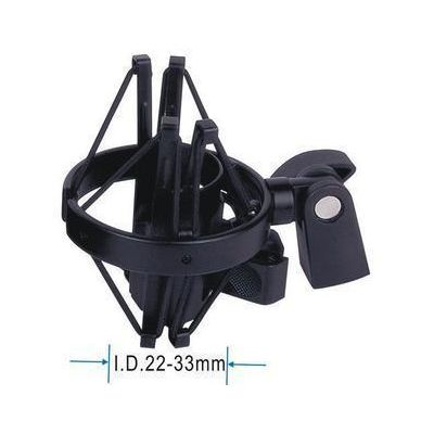Support microphone anti shock pour pied tripode noir 22-35mm