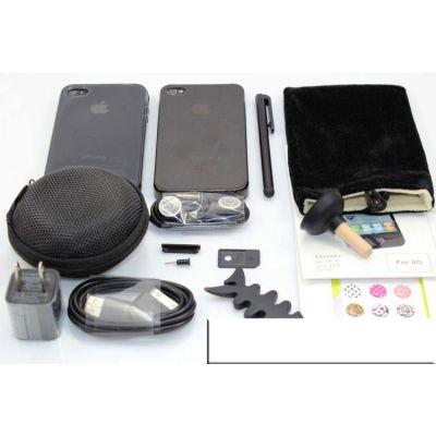 Kit iPhone 4 4S protection réparation coque outils chargeur câble USB