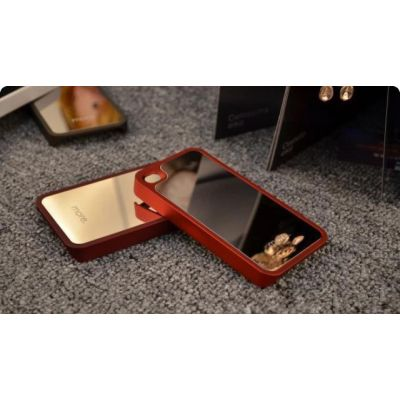 Coque iPhone 4 4S miroir protection avec façade en silicone et métal