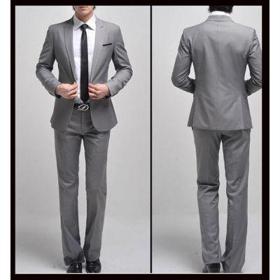 Ensemble costume coupe classique – gris clair