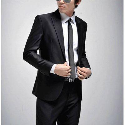 Ensemble costume bureau design classique – noir