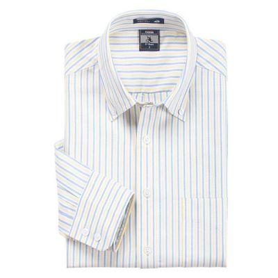 Chemise pour hommes à rayures bleues crème et blanches