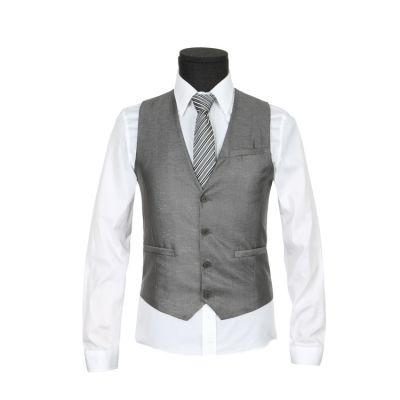 Gilet sans manches pour costume avec attache arrière – gris