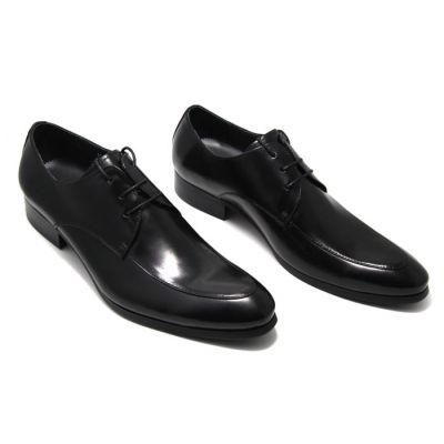Chaussures pour costume en cuir classiques pointe arrondie - noires