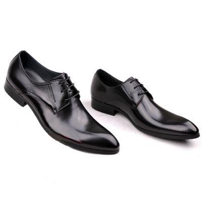 Chaussures de costume en cuir style classique - noires