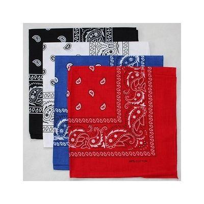 Bandana carré hip hop pour foulard ou bandeaux