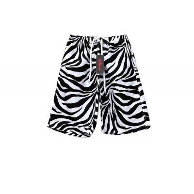 Short de bain a rayures tigres noir et blanc