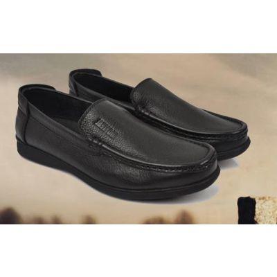 Chaussures style mocassins de ville en cuir sans lacets