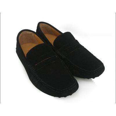 Chaussures style mocassins en daim avec ou sans lacets