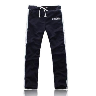 Pantalon de survetement avec imprimé et bande verticales