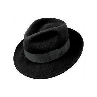 Chapeau gangster old school type Al Capone en feutre