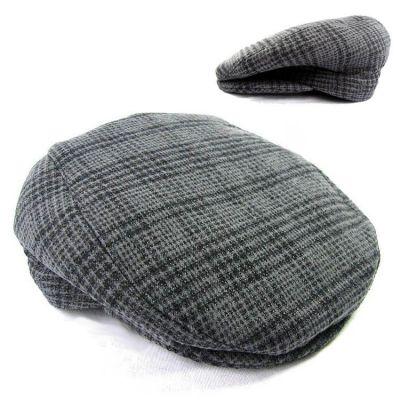 Beret en feutre old school type Kangol hat à carreaux