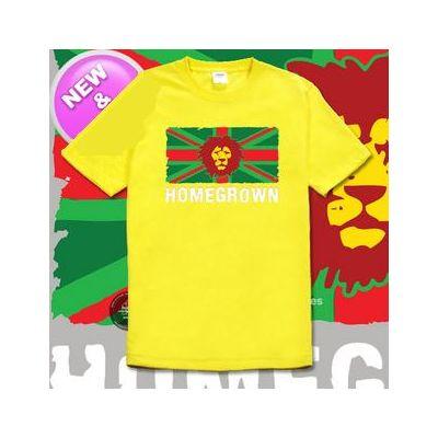 T Shirt reggae Lion Homegrown design roots rasta - manches courtes