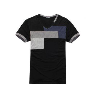 Tee shirt col V pour homme avec design imprimé géometrique