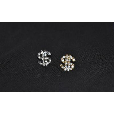 Studs pour oreille pour homme en Dollar avec diamants incrusté
