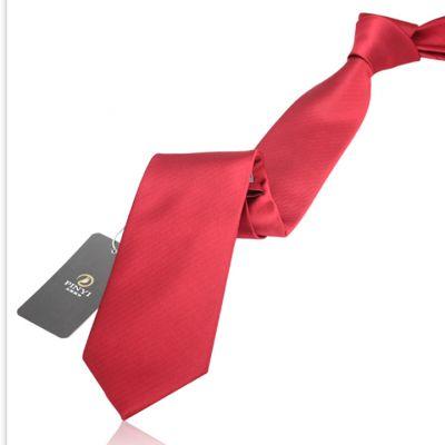 Cravate couleur unie rouge éclatant