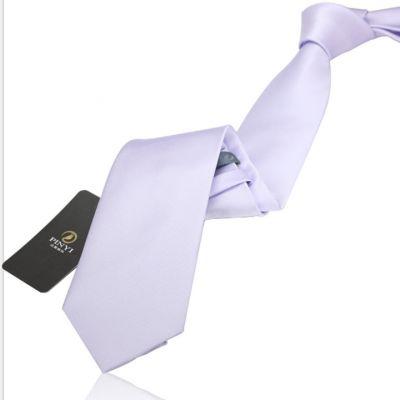 Cravate couleur unie blanc - polyester