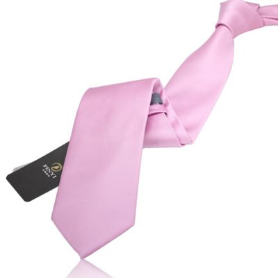 Cravate couleur unie rose pâle - polyester