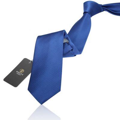 Cravate couleur unie bleu azure - polyester