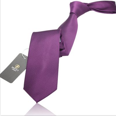 Cravate couleur unie violet royal - polyester