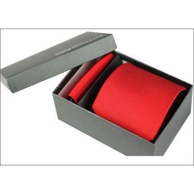 Cravate en pure soie couleur unie – rouge