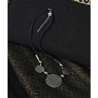 Collier fantaisie pour femmes avec 3 cercles ronds métal
