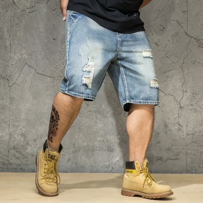 Baggy short style déchirures homme