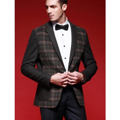 Blazer à Carreaux pour Homme Veste de Costume Classique Plaide