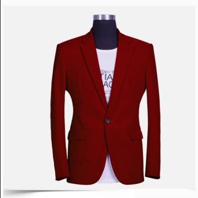 Blazer pour Homme Veste de Costume Bordeaux ou Marine