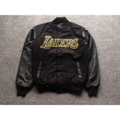Blouson Bomber Los Angeles Lakers All Black Tout Noir Retro