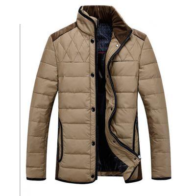 Blouson hiver homme avec col doublé velours et empiècement dos