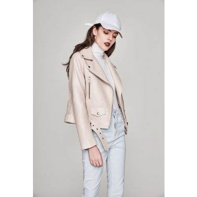 Blouson perfecto simili cuir classique pour femme veste biker