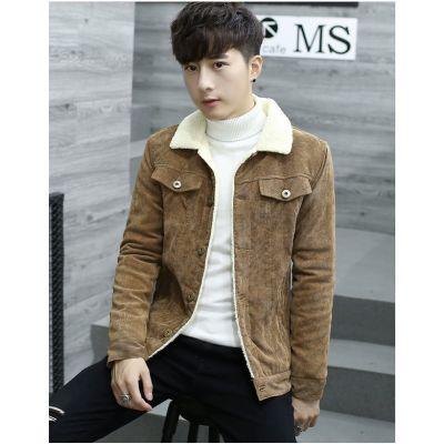 Blouson velours côtelé pour homme avec doublure imitation laine