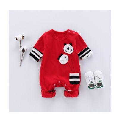Body hiver en coton pour bébé avec badges et poche brodés