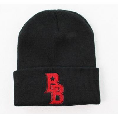 Bonnet BB B-Boy Stars Hip Hop Streetwear Brodure Rouge Beanie Hiver