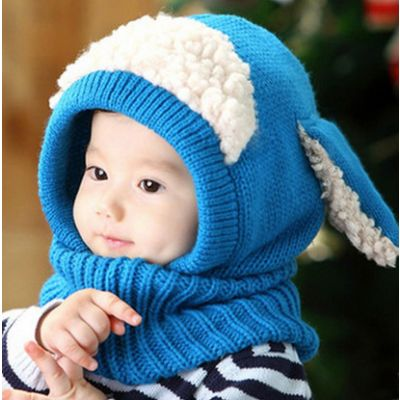 Bonnet Enfant bébé avec polaire et oreilles de lapin