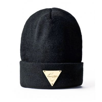 Bonnet Hater Plaque Or Triangle Swag Homme Femme