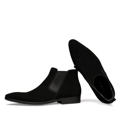 Bottines daim homme sans lacets chic
